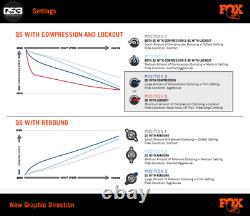 Fox Shocks 1.5 Zero iQS Front + Rear Track Ski Doo Summit XM Freeride Rev Gen 4