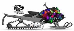 SKI-DOO Summit Freeride Gen 4 850 sled graphic wrap Wet Paint FRONT ONLY KIT