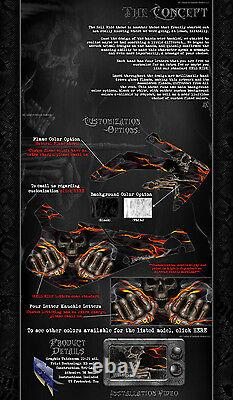 Ski-Doo REV XP FREERIDE 2008-2012 HELL RIDE DECALS GRAPHICS WRAP & TUNNEL KIT
