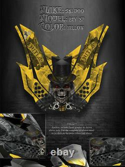 Ski-doo Xp Rev Renegade 08-12 The Outlaw Yellow Hood Graphics Only Free Ride